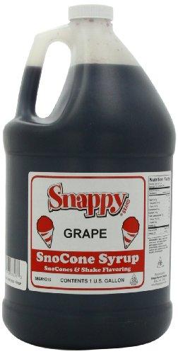Grape Flavor Syrup - Snappy Popcorn Snappy Snow Cone Syrup 128 Fl. Oz, Grape