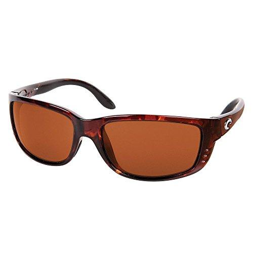 Costa Del Mar Zane Sunglasses Tortoise/Copper 580Plastic from Costa Del Mar