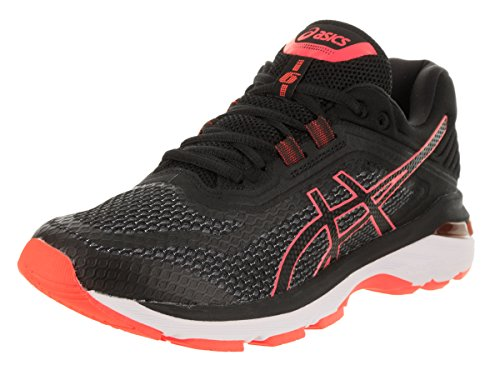 ASICS Women's GT-2000 6 Black/Flash/Coral Running Shoe 6 Women US