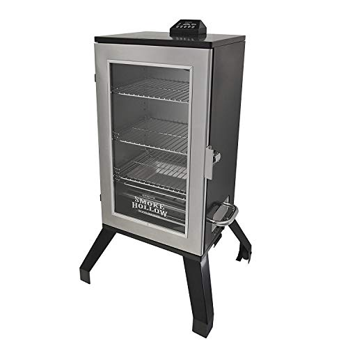 Electric Smoker Cooker - Smoke Hollow 3016DEWS 30-Inch Digital Electric Smoker with Window, Stainless Steel