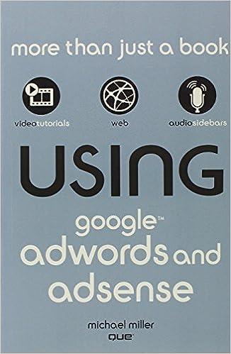 Using Google AdWords and AdSense: Amazon.es: Michael Miller: Libros en idiomas extranjeros