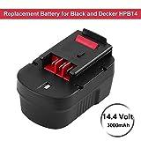 Amsbat Replacement for Black and Decker 14.4V 3.0Ah Battery Firestorm HPB14 FSB14 FS140BX 499936-34 499936-35 A14 A144EX A1714 BD1444L HPD14K-2 CP14KB HP146F2 HP148F2R