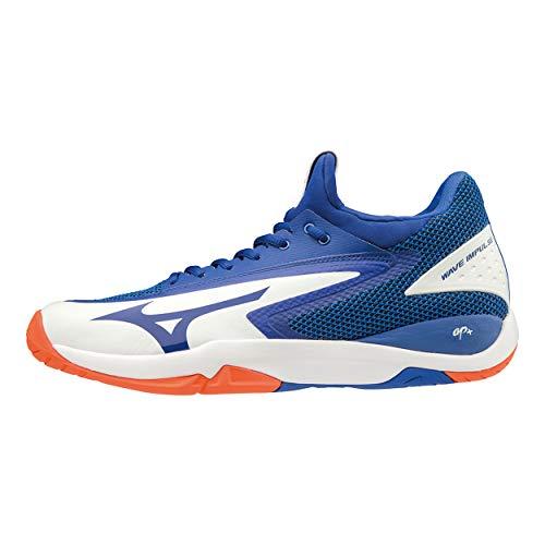 Uomo Da reflex Scarpe Blue Impulse Eu nasturtium Bianco Tennis Wave Mizuno 41 white 27 Ac aAnIwAYz