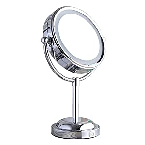 led lighted makeup mirror with lights double. Black Bedroom Furniture Sets. Home Design Ideas