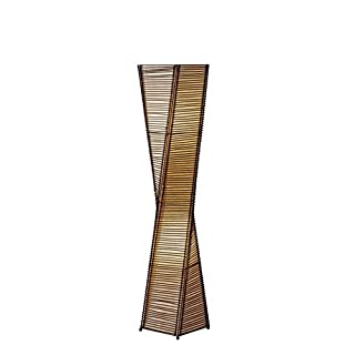 Adesso Home 4046-01 Transitional Two Light Floor Lamp from Stix Collection in Black Finish, Lantern