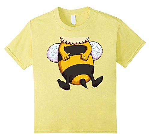 Kids Bumblebee Costume T-Shirt for Halloween Bee Animal Cosplay 8 Lemon (Bumble Bee T Shirt)