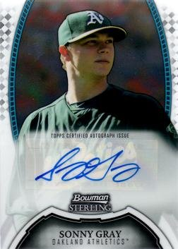 - 2011 Bowman Sterling Prospects #BSP-SG Sonny Gray Certified Autograph Baseball Card