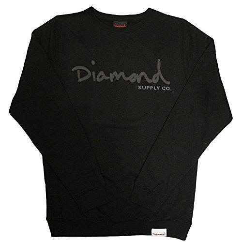 Og Black Tonal Script Supply Nero Diamond Co Crewneck BfxTp1q
