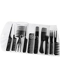 Acquisition 10Pcs Black Pro Salon Hair Cutting Hairdressing Barbers Brush Combs Set saleoff