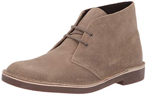 CLARKS Men's Bushacre 2 Chukka Boot Taupe Distressed Suede 14 M US