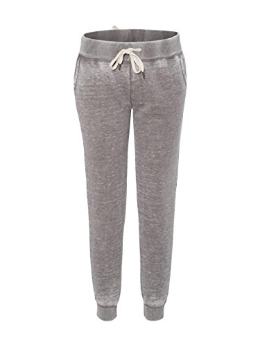 J. America Women's ZEN Fleece Jogger-8944-MD-Cement America Polyester Fleece