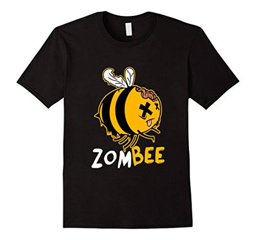 Zom-bee Costume (Men's Zombee Zom Bee Funny Halloween Costume T-Shirt Large Black)