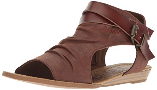 Wedge Whiskey Draped Women's Microfiber Balla Sandal Blowfish qwA6HEP