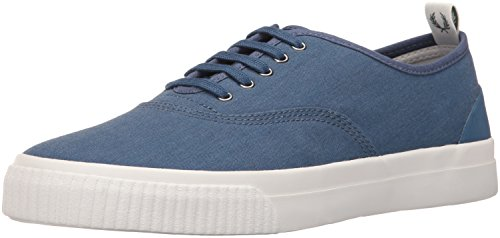 Fred Perry Mens Barson Canvas Barson Canvas Midnight Blue/Snow White