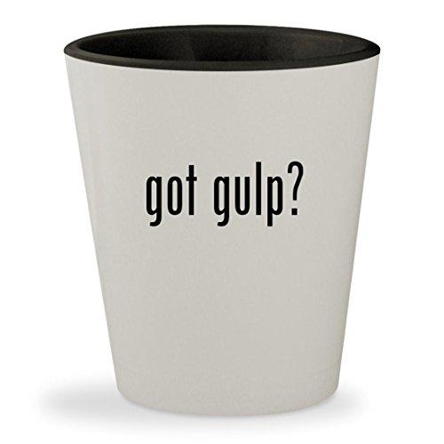 got gulp? - White Outer & Black Inner Ceramic 1.5oz Shot Glass