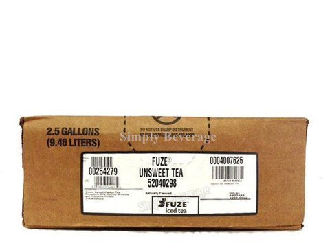 Fuze UNSWEET Tea Syrup 2.5 Gallon Bag in Box BIB Sodastream by Fuze by Fuze