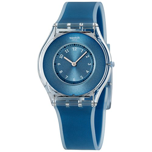 Swatch Women's SFS103 Skin Analog Display Swiss Quartz Blue Watch