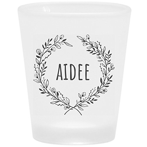 Aidee Floral Drinking Gift: Frosted Shot Glass -