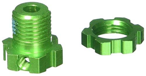 Traxxas 5353G 17mm Green-Anodized Aluminum Wheels Hubs and Nuts (set of 4) (Hub Set Aluminum)