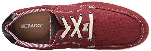 Oxford Canvas Men's leather Red Up Lace Mason Sebago qBaWZwzTx