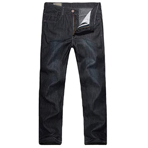 Estivi Da Ssige Tee Jeans Dunkelblau Ragazzi In Retrò Dritti Pantaloni Mens Denim Larghi Classiche Casual Cowboy Stile qtg1Bwz