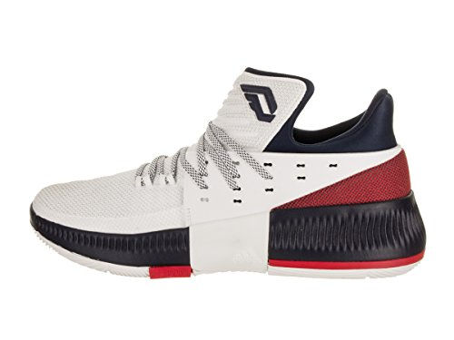 Navy White Men's adidas D Scarle Lillard 3 Basketball Shoe 1zcTZ68wq