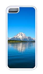 Customized Case Landscapes Grand Tetons TPU White for Apple iPhone 5C