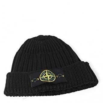 Stone Island Hat - Rib Beanie Black  Amazon.co.uk  Clothing bf377b52d37