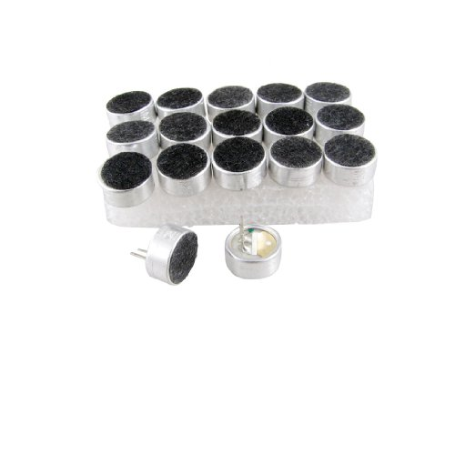 (uxcell MIC Capsule Electret Condenser Microphones 9.5mm Dia 18)
