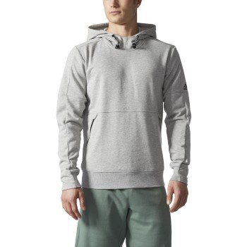 adidas Men's Athletics French Terry Pullover Hoodie, Medium Grey Heather, 4X-Large (Adidas Terry Pullover)