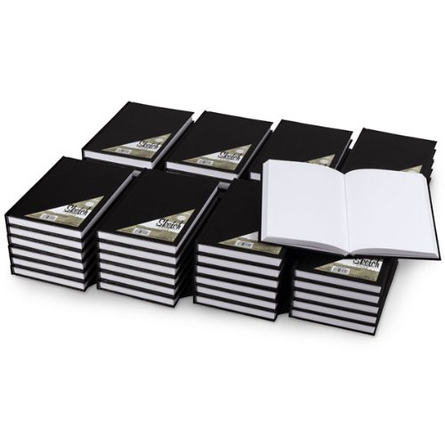 Nasco Hardbound Sketchbook, 220 Pages, 5-1/2'' x 8'' (Pack of 48) by Nasco