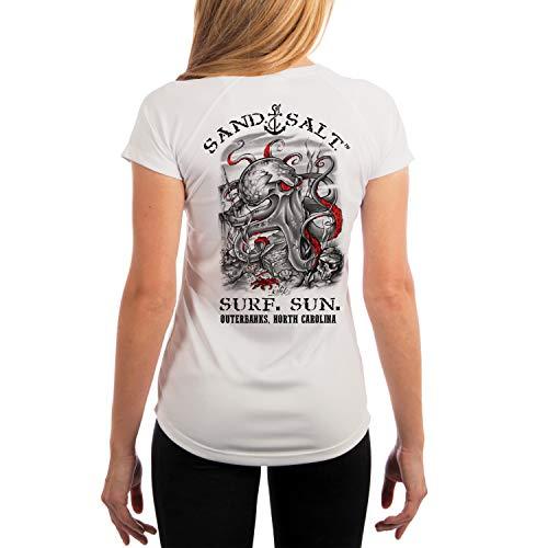 - SAND.SALT.SURF.SUN. Outer Banks Octopus Treasure Women's UPF 50+ Short Sleeve T-Shirt Small White