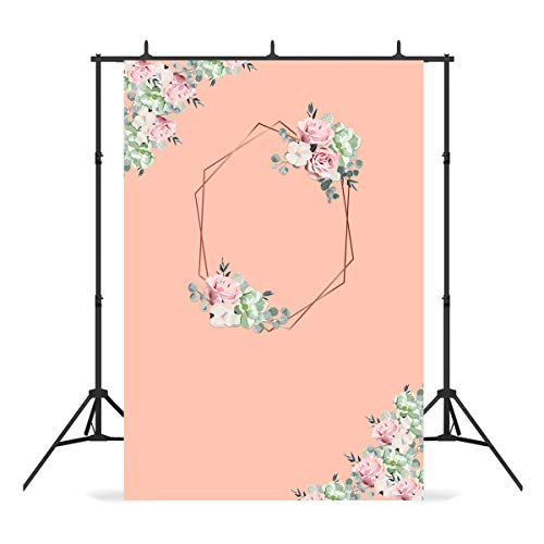 7x5ft Rose Gold Photography Backdrop - Polyester Peach Skin Floral Flower Photo Background for Birthday Decor, Wedding Party, Photo Portrait Stduio