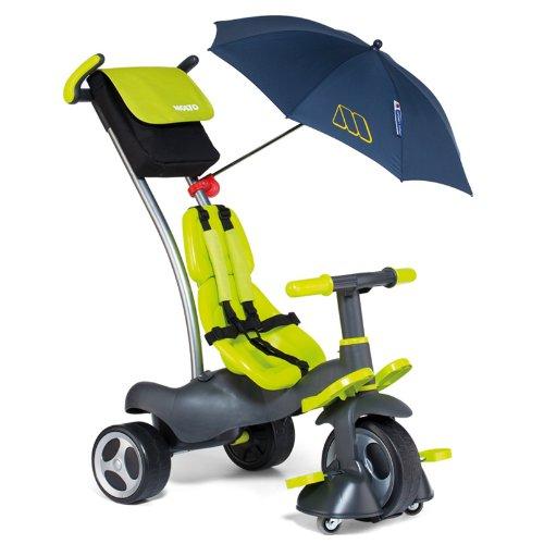 Molto 13214 – Triciclo deluxe con ruedas de goma, giro 360º y sombrilla