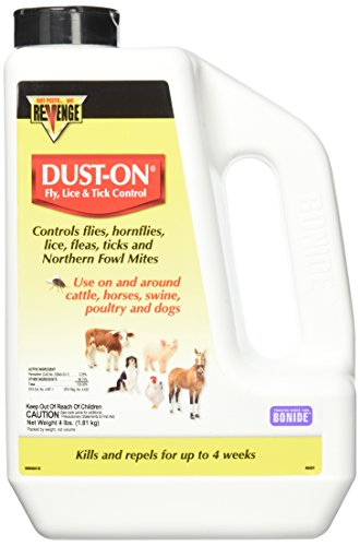 Bonide Products Fly, Lice & Tick Control Dust-On, 4 - Control Livestock Fly