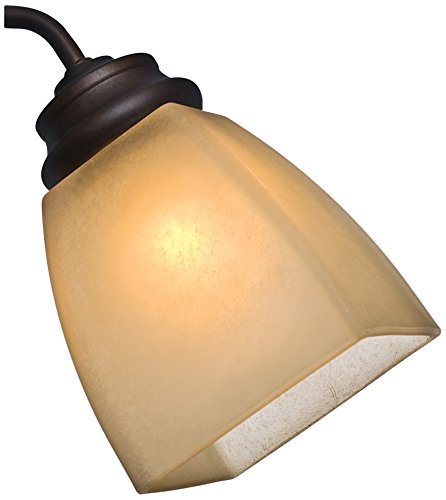 Casablanca Fan Company 99040 2-1/4-Inch Side Glass Square Shape, Frosted Amber Speckled (Casablanca Glass Pendant)