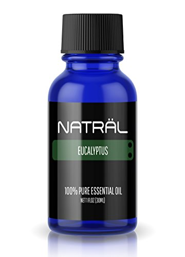 NATRÄL Eucalyptus, 100% Pure and Natural Essential Oil, Large 1 Ounce Bottle