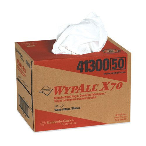 WypAll® X70 Workhorse Cleaning Wipe Dispenser, White, 1 Box of 152 Wipers (KW105) Category: Cleaning Wipes (Wipers Dispenser Box)