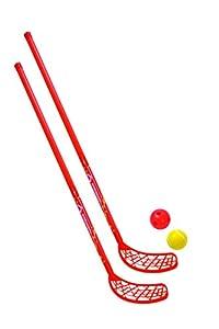 Schildkröt Funsports Hockey Set 2 Schläger 2 Bälle Streethockey Inline Eis...