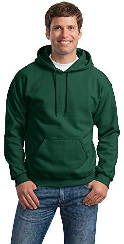 Gildan Mens Heavy Blend Hooded Sweatshirt, 5XL, Forest