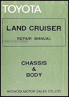 toyota land cruiser manual chassis & body pub no 98154e toyota  toyota land cruiser manual chassis & body pub no 98154e paperback illustrated, 1994