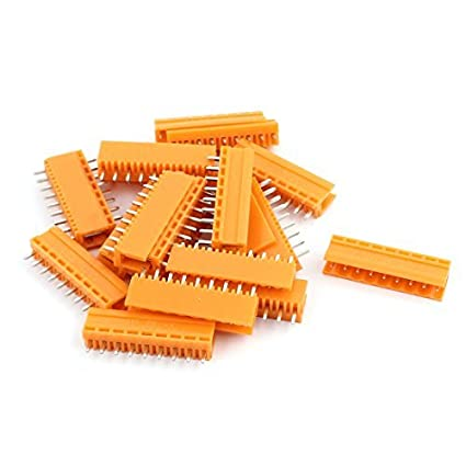 eDealMax 20Pcs AC300V 3, 96 mm Pitch 9P del asiento de la aguja recta plug-in PCB Bloque de terminales Conector - - Amazon.com
