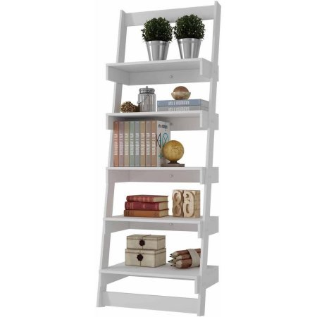 Mendocino Filbert Brilliant Ladder Shelf, White