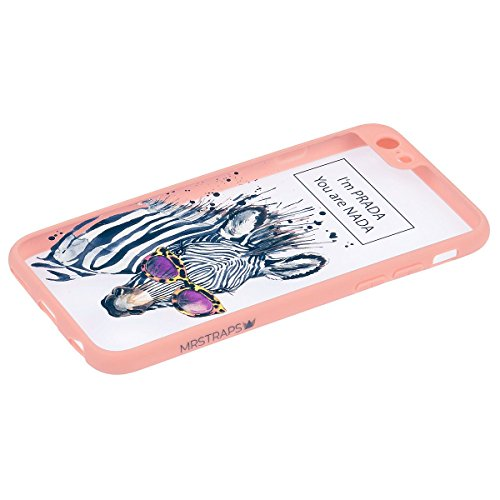MRSTRAPS iPhone 7 I'm PRADA you're NADA Premium Case Rosa Transparent Damen