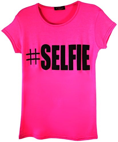 Stampa shirt Slogan Hashtag Girls T Children 5 Ael 13 anni Selfie Cherry Età yIqgw0