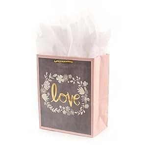 Amazon.com: Hallmark 5 wdb2138 bolsa de regalo, medio, gris ...