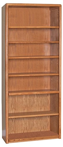 Martin Furniture Contemporary 7 Shelf Bookcase - Fully Assembled (84 Wood Bookcase)