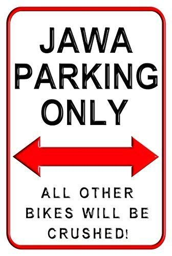 A smiling eye Jawa Parking Only Motorcycle Parking Wall Sign Parking Signs 8