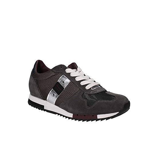 Grau Leder USA Weiß Grau Herren Blauer Schnürer QUINCY01 Grau Sneaker NYL RxZgnCqw0