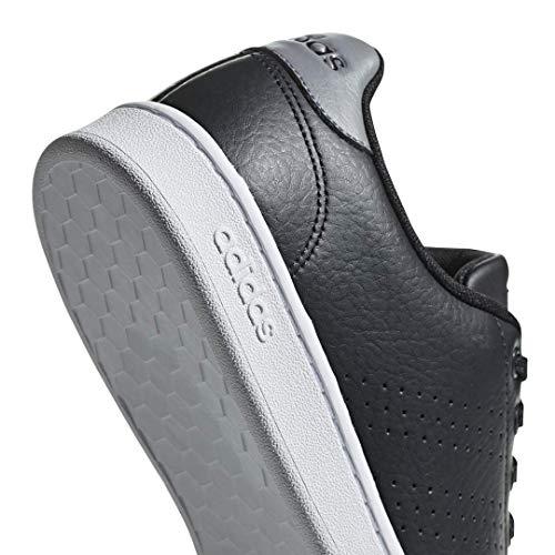adidas Men's Advantage Tennis Shoe, Black/Black/Grey, 5.5 M US